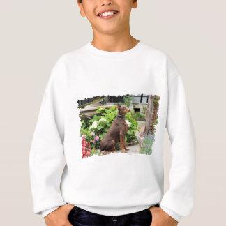 Doberman - In the Church Garden Sweatshirt