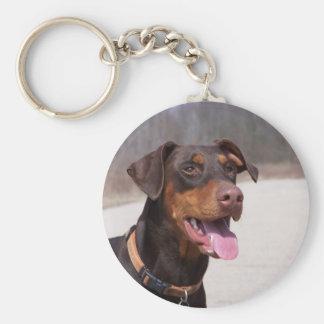 Doberman Key Ring