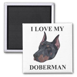 Doberman Love Magnet