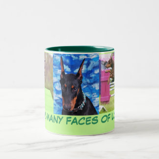 Doberman Love Two-Tone Coffee Mug