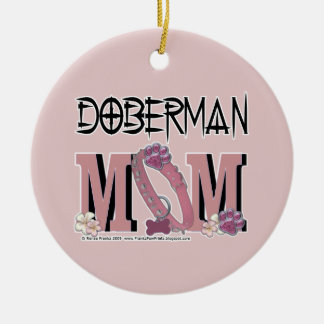 Doberman MOM Christmas Ornament
