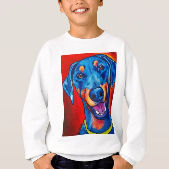 Doberman (natural black and tan) sweatshirt