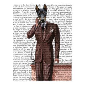 Doberman on Phone Postcard