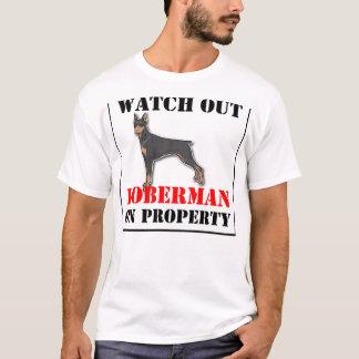 doberman-on property.png T-Shirt
