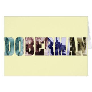 Doberman photo collage name greeting card
