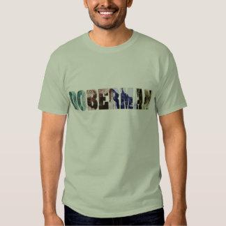 Doberman photo collage name t shirts