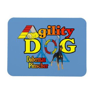 Doberman Pinscher Agility Gifts Rectangular Photo Magnet