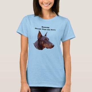 Doberman Pinscher Beware Funny T-Shirt