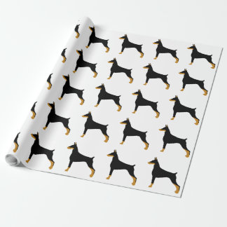 Doberman Pinscher black and tan silo.png Wrapping Paper