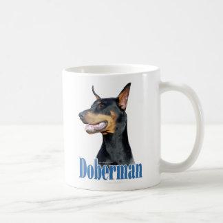 Doberman Pinscher (black) Name Coffee Mug