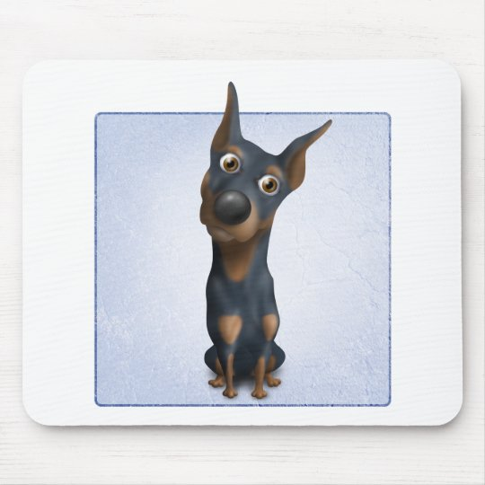 Doberman Pinscher (Black & Tan) DOB1 Mouse Mat