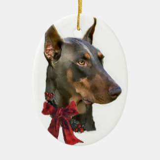 Doberman Pinscher Christmas Gifts Ornament