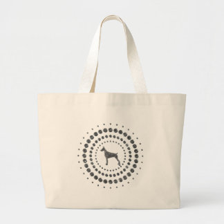 Doberman Pinscher Chrome Studs Large Tote Bag