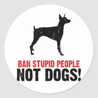 Doberman Pinscher Classic Round Sticker