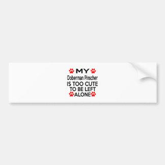 Doberman Pinscher Designs Bumper Sticker