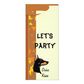 Doberman Pinscher ~ Dobie Kisses 10 Cm X 24 Cm Invitation Card
