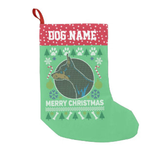 Doberman Pinscher Dog Breed Ugly Christmas Sweater Small Christmas Stocking