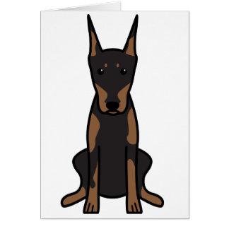 Doberman Pinscher Dog Cartoon Card
