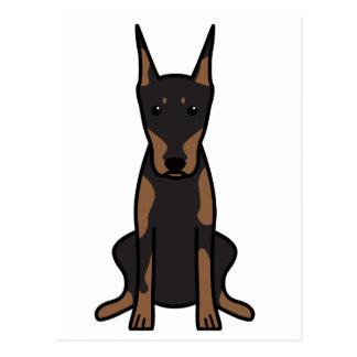 Doberman Pinscher Dog Cartoon Postcard
