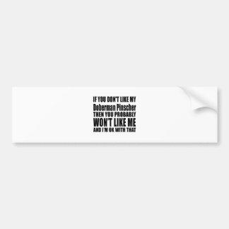 Doberman Pinscher Dog Designs Bumper Sticker
