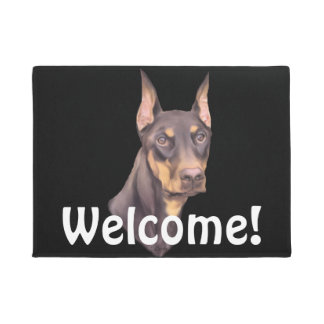 Doberman Pinscher Dog Doormat