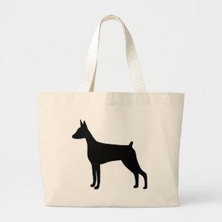 Doberman Pinscher Dog Large Tote Bag