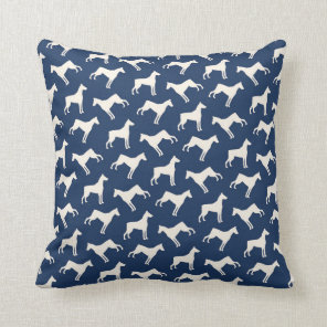 Doberman Pinscher Dog Pattern Navy Blue Cushion