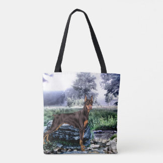 Doberman Pinscher Dog Tote Bag