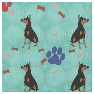 Doberman Pinscher Fabric