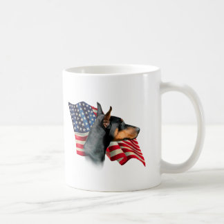 Doberman Pinscher Flag Coffee Mug