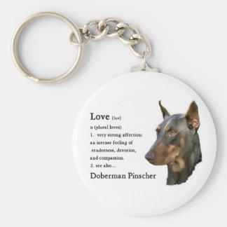Doberman Pinscher Gifts Basic Round Button Key Ring