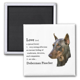 Doberman Pinscher Gifts Square Magnet