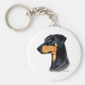 Doberman Pinscher Key Ring