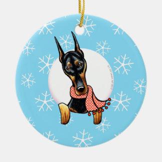 Doberman Pinscher Let it Snow Christmas Ornament