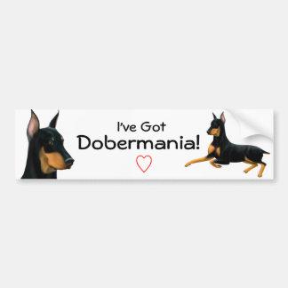 Doberman Pinscher Love Bumper Sticker Car Bumper Sticker