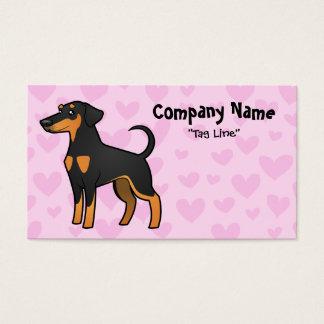 Doberman Pinscher Love (floppy ears) Business Card