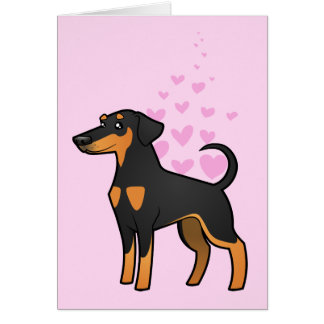 Doberman Pinscher Love (floppy ears) Card