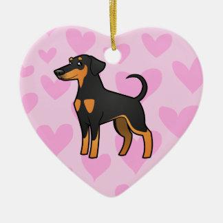 Doberman Pinscher Love (floppy ears) Christmas Ornament