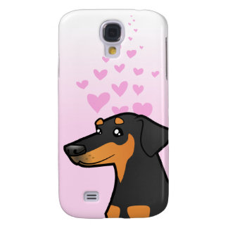 Doberman Pinscher Love (floppy ears) Galaxy S4 Case