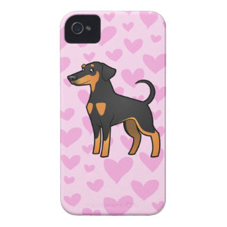 Doberman Pinscher Love (floppy ears) iPhone 4 Cases
