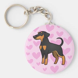 Doberman Pinscher Love (floppy ears) Key Ring