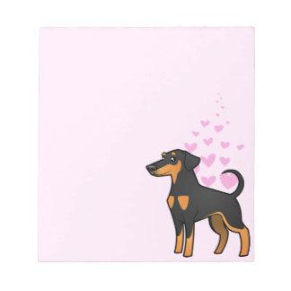Doberman Pinscher Love (floppy ears) Notepad
