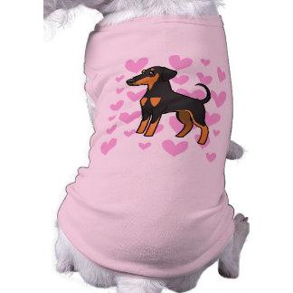 Doberman Pinscher Love (floppy ears) Sleeveless Dog Shirt