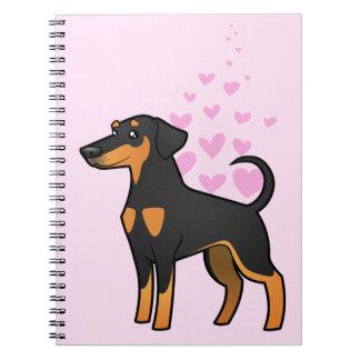 Doberman Pinscher Love (floppy ears) Spiral Note Book