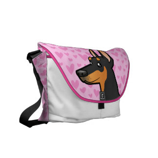 Doberman Pinscher Love (pointy ears) Commuter Bag