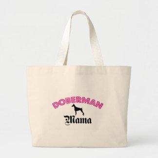 Doberman Pinscher Mama Large Tote Bag