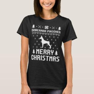 Doberman Pinscher Christmas T Shirts Shirt Designs Zazzle Uk