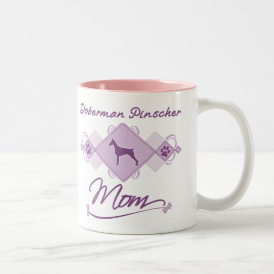 Doberman Pinscher Mum Two-Tone Coffee Mug