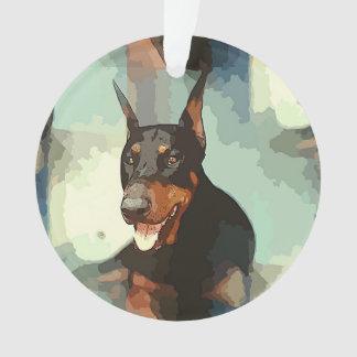 Doberman Pinscher Portrait Ornament