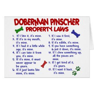 DOBERMAN PINSCHER Property Laws 2 Card